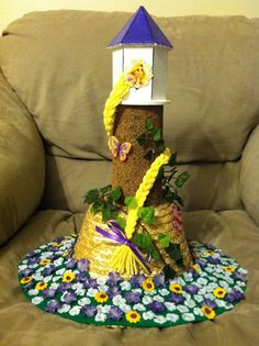 Tangled hat I made for my daughter's Crazy Hat Day at school.