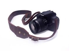 Leather Camera Strap  Italian leather Rich Chocolate