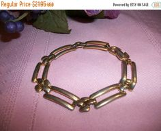 Women's Bracelet Signed Monet Jewelry Gold by SpringJewelryThings