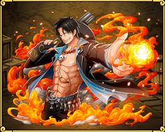 Portgas D. Ace Black Clad Flame Fist