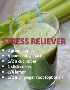 Stress Reliever (juicing) - Not sure if this relieved my stress, but it tasted awesome! Zowie! That ginger root packs a punch! And with the lemon and celery... Well, it was yummy.