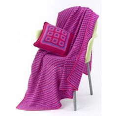 Tween Pillow & Throw - Patterns | Yarnspirations