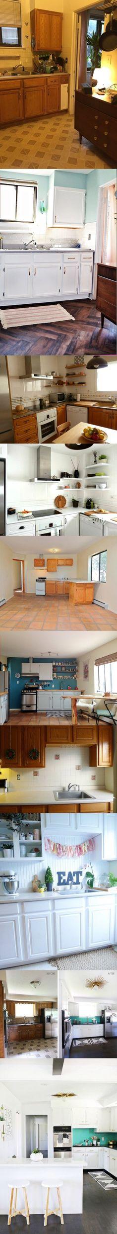 Redecora tu cocina pequeña este año / http://inspirahogar.com ...