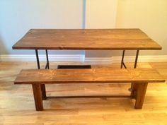 DIY Wood & Pipe Bench (+ matching table) by dawn