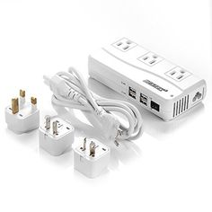 Bestek Universal Travel Adapter to Voltage Converter with US - Study Abroad Gifts - Universal travel adapter - - Bestek Universal Travel Adapter to Voltage Converter with USB and UK/AU/US/EU Worldwide Plug Adapter Travel Items, Travel Gifts, Travel Stuff, Travel Products, Amazon Products, Travel Info, Tools And Equipment, Voltage Converter, Gadgets