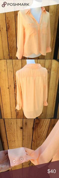 🌟MAKE AN OFFER🌟Sabo Skirt Orange Sheer Blouse New without tags.( also have skirt available. Unlisted. )first photo is inspired from their website Sabo Skirt Tops Tees - Long Sleeve