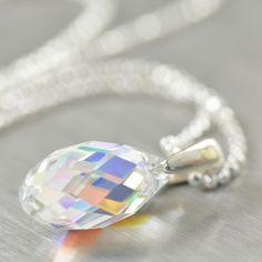 "April Birthstone ""Tears of the Gods"" || http://southpawonline.com/products/april-birthstone-diamond-crystal-pendant-necklace"