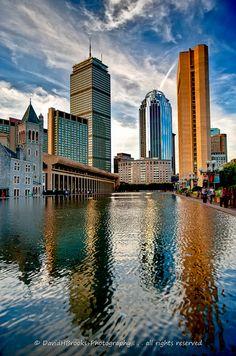 REFLECTING TALL BOSTON by DavidHBrooks, via Flickr