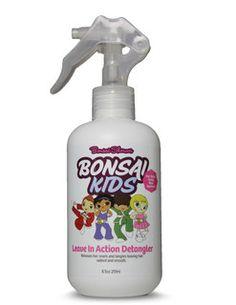 Our number one best seller -  http://www.bonsaikids.com/leave-in-action-detangler/