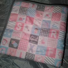 Nothing better than a super soft fleece and flannelette quilted cot blanky  to get through the winter chill