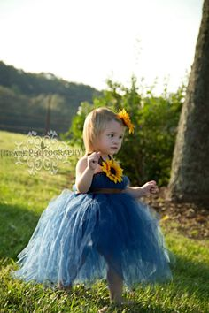 sunflower tutu dress