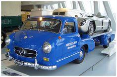 Damit wurden 1955 die Silberpfeile chauffiert #Mercedes-Benz, Rennwagen Schnelltransporter # Prototypen, Unikate und Kleinserien #oldtimer #youngtimer http://www.oldtimer.net/bildergalerie/mercedes-benz-prototypen-unikate-und-kleinserien/rennwagen-schnelltransporter/69-05-200074.html