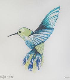 "Square By Design-Hummingbird 25"" Woven Square"