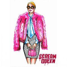 IG: markoariel #screamqueens #fanart #screamqueensfanart #ChanelOberlin Scream Queens Season 2, Scream Queens Fashion, Chanel Oberlin, Queen Art, Emma Roberts, Girly Girl, Girl Fashion, Tv Shows, Movies