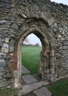 "Lesnes Abbey in Bexley, Greater London, England. Burial place of Rohese ""Rose"" de Dover (d. She was married to Richard FitzRoy and is Mike's gg. Local History, Family History, Greater London, London England, Facade, Roots, Childhood, Wanderlust, Europe"