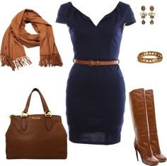 """""""Navy & Brown"""" by msamandacall ❤ liked on Polyvore"""