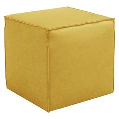 Skyline Custom Upholstered Square Ottoman with French Seams