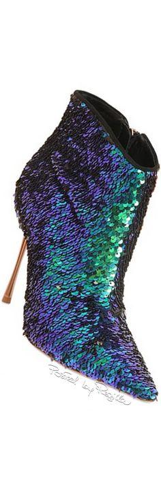 Sophia Webster ~ Tri - color Sequinned Bootie