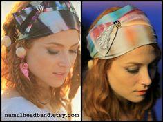 Boho Tie Dye Headbands With Tassels