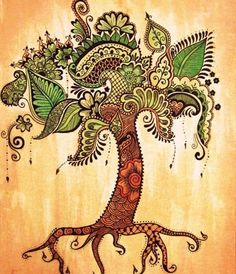 Paisley Tree Tattoo.