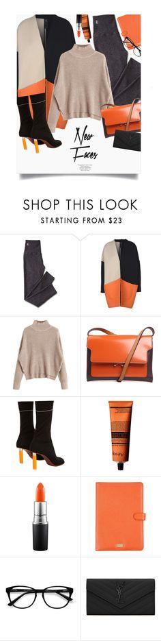 """Orange & Black"" by genovevajc ❤ liked on Polyvore featuring Topshop, Mark & Graham, Zero + Maria Cornejo, Marni, Vetements, Aesop, MAC Cosmetics, Dolce&Gabbana, EyeBuyDirect.com and Yves Saint Laurent"