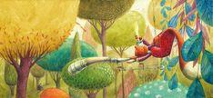 Text by Susanna Isern Nube Ocho 2016 · Spanish, English and German Edition (Aracari Verlag) Buy a book Moving To Barcelona, Freelance Illustrator, Whimsical Art, Naive, Art School, Illustration Art, Illustrations, Childrens Books, Character Design