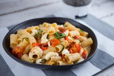 Rigatoni with Cherry Tomatoes, Rocket & Buffalo Mozzarella - San Remo Chef Recipes, Pasta Recipes, Dinner Recipes, Mozzarella Pasta, Buffalo Mozzarella, Green Bean Salads, Best Chef, Rigatoni