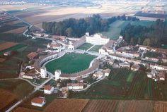 Vista aerea di Villa Manin a Passariano, UDine.