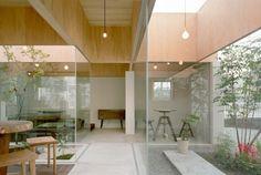 Table Hat Cafe by Hiroyuki Shinozaki Architects // Kanagawa, Japan. Fabulous way of punctuating the spaces with gardens.