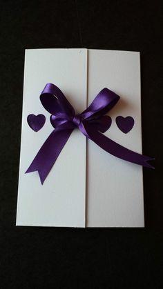 80 Handmade Personalised Aperture Heart Gatefold Ribbon Wedding Invitations
