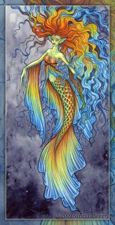 Mardi Gras by *MisticUnicorn on deviantART: This is kinda how I want my DragonCon mermaid costume to be, except pink/blue/purple -Another pinner Fantasy Mermaids, Real Mermaids, Mermaids And Mermen, Siren Mermaid, Mermaid Tale, Mermaid Images, Mermaid Pictures, Mythical Creatures, Sea Creatures