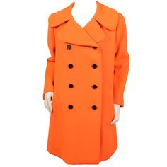 Norman Norell Citrus Orange Coat