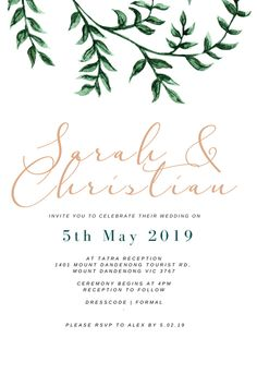 Invitations starting from just $3.50! Bespoke Design, Special Day, Rsvp, First Love, Reception, Ivory, Place Card Holders, Invitations, Celebrities