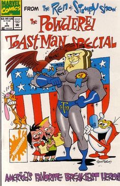 THE #REN&STIMPY SHOW THE POWDERED TOAST MAN Special No.1 by #DanSlott http://www.amazon.com/dp/B000S394HE/ref=cm_sw_r_pi_dp_CEFqsb1YJD61Q5F5