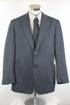 Johnston & Murphy Blazer Sport Coat Mens size XL Navy Blue 2 Button EUC #JohnstonMurphy #TwoButton
