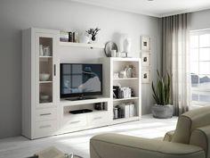 Muebles | Mueble de salón Menorca Living Room Built In Units, Living Room Tv, Home And Living, Sofa Design, Interior Design, Rack Tv, Muebles Living, Tv Wall Decor, Kitchens And Bedrooms