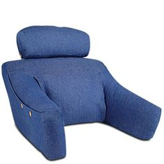 BedLounge: Your personal recliner pillow With a headrest and arms ...