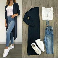 New Fashion Casual Hijabi Jeans 20 Ideas – Outfits – – Hijab Fashion 2020 Mode Outfits, Chic Outfits, Spring Outfits, Trendy Outfits, Trendy Fashion, Casual Work Outfits, Fashion Mode, Trendy Style, Jean Outfits