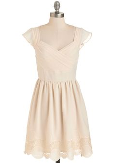 51862d5a62e Let s Reminisce Dress in Cream. Thanks to this dress nostalgic details