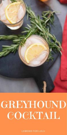 This Greyhound cocktail is a little different than the rest. Vodka replaces gin in this classic cocktail and sparkling grapefruit juice adds effervescence and sweetness. Fresh rosemary makes the world of difference! Classic Cocktails, Fun Cocktails, Holiday Cocktails, Vodka Tonic, Crockpot Hot Chocolate, Fruit Infused Water, Grapefruit Juice, Daiquiri
