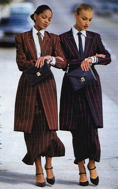 Vintage Dressing BUSINESS Although high fashion magazines didn't dwell on business fashion (some would call it anti-fashion), they couldn't completely ignor. Anti Fashion, 80s Fashion, Fashion History, Look Fashion, Runway Fashion, Korean Fashion, High Fashion, Vintage Fashion, Fashion Outfits