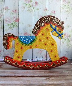swinging horse wooden horse ornament horse toy horse gift