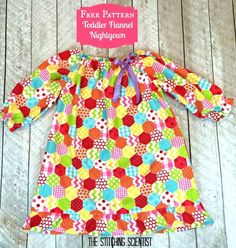 RBD Flannel Showcase Blog Tour: Toddler Girl's Nightgown with Free Pattern