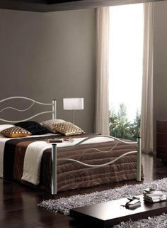 Bedroom Wave Stainless Steel Headboard Modern Furry White Rug In Bedroom Gorgeous Small Bedroom Paint Inspiring Modern Bedroom Light Grey Small Bedroom Paint Make Your Small Bedroom Inspiration Look Bigger Also Luxury - Prove it