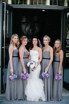 Bridesmaids - silver gray theme