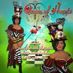 Queen of Hearts Inspired Outfit...Great for Halloween or costume parties..perfect gift!