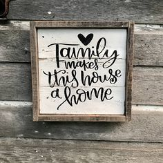 Family Makes This House a Home Pallet Wood Sign Rustic