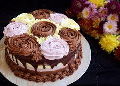 Tort cu trei tipuri de mousse, în trei culori - Rețete Merișor Cupcake Recipes, Cupcake Cakes, Romanian Desserts, Let Them Eat Cake, Sweet Recipes, Caramel, Cake Decorating, Sweet Treats, Good Food