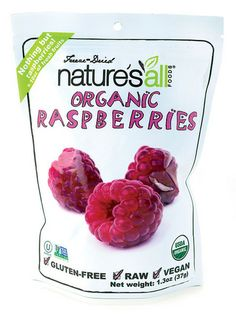 Nature's All Organic Raspberries--$5.99--Available at TheWellnessCafe.com