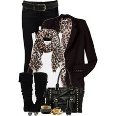 Leopard Blazer, created by immacherry on Polyvore